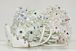 33 лампы,  цветы (4 см),   4 цвета, 4.7 м(включая влагозащит провод 1,5 м),  2к/8пр. арт.37062 фото