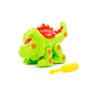 """Конструктор-динозавр """"Трицератопс"""" (32 элемента) (в пакете), арт.76717 фото"""