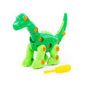 "Конструктор-динозавр ""Диплодок"" (35 элементов) (в пакете), арт.76724 фото"