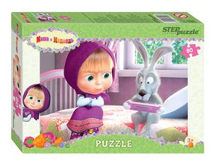 "Мозаика ""puzzle"" 80 ""Маша и Медведь - 2"" (Анимаккорд), арт.77162 фото"