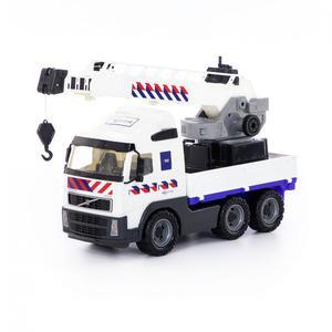 """""""Volvo"""", автомобиль-кран с поворотной платформой полицейский (NL) (в сеточке), арт.77318 фото"""