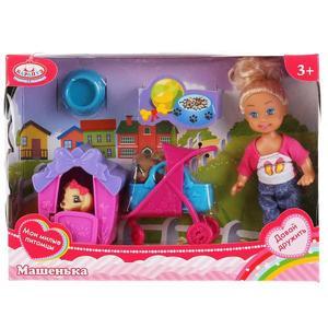 Кукла Машенька 12см, в комплекте будка, питомец, аксессуары, арт.MARY022X-RU фото