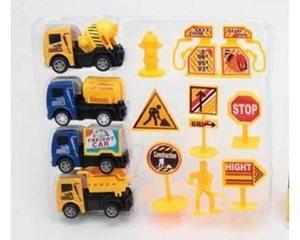 Набор машин и дорожных знаков арт.RA1704E (кор.16)  фото