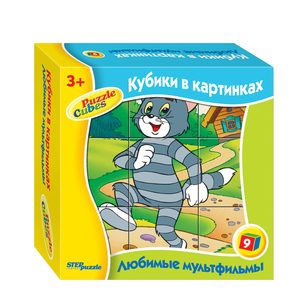 """Кубики 9 шт. """"Любимые мультфильмы-4"""" арт.87312 фото"""