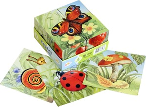 "4 кубика Baby Step ""На полянке"", арт.87327 фото"