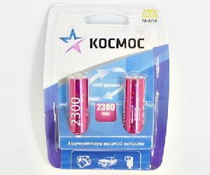 Аккумулятор КОСМОС R6 NI-MH 2300 мАч max арт.КОСR6NIMH(2300MAH) фото