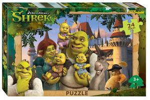 "Мозаика ""puzzle"" maxi 24 ""Shrek"", арт.90064 фото"