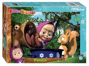 "Мозаика ""puzzle"" 35 ""Маша и Медведь - 2"" (Анимаккорд), арт.91175 фото"