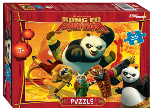 """Мозаика """"puzzle"""" 35 """"Кунг-фу Панда"""" (DreamWorks, Мульти), арт.91184 фото"""