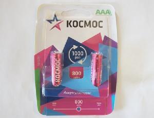 Аккумулятор КОСМОС R03 NI-MH 800 мАч арт.КОСR03NIMH(800MAH) фото