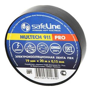 Изолента Safeline 19/20 черный арт.9366 фото