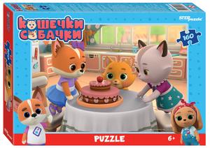 """Мозаика """"puzzle"""" 160 """"Кошечки и собачки"""" (0+ Медиа), арт.94128 фото"""