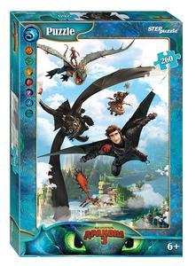 "Мозаика ""puzzle"" 260 ""Как приручить дракона - 3"" (DreamWorks), арт.95081 фото"