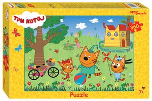 """Мозаика """"puzzle"""" 360 """"Три кота"""" (АО """"СТС""""), арт.96091 фото"""