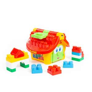 """Логический домик """"Маленький строитель"""" (в сеточке) арт.9646 (кор.4) фото"""