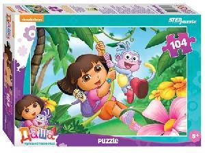 "Мозаика ""puzzle"" 104 ""Даша-путешественница"" (Никелодеон) арт.82177 фото"