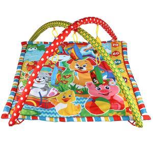 Детский игровой коврик с мягкими игрушками-пищалками на подвеске в русс. кор., арт.B1387963-R-N фото