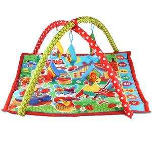 Детский игровой коврик-ростомер с мягкими игрушками-пищалками, арт.B1387963-R-Z фото