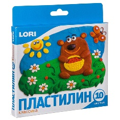 Пластилин Классика, 10 цветов, 20 гр., с европодвесом арт. Пл-002 фото