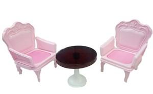 Кресла со столиком  для куклы. Розовые, арт. С-1394 фото
