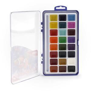 Акварельная краска в пластм. уп. 24 цвета, б/к, арт.Акв-004 фото