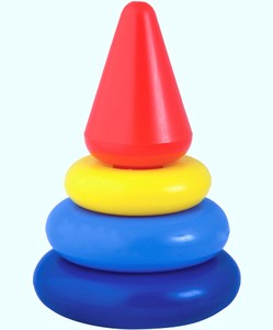 "Пирамида ""Кнопа"", 14 см (в сетке, 5 дет.) арт. 9208 фото"