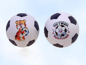 Мяч 200мм лакир. (эмбл.) с-56ПЭ (футбол) арт.с-56ПЭ фото