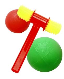 Набор: два мяча: 80 мм и 120 мм и молоток озвученный, арт.2С363 фото