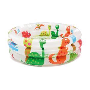 Круглый детский бассейн с динозаврами 1-3лет (кор.12шт)арт.57106NP фото