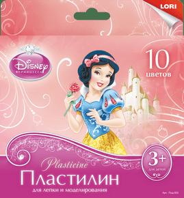 "Пластилин Disney, ""Принцессы"" 10цв., 20 гр., с европодвесом, арт.Плд-002 фото"