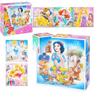 """Кубики """"Принцессы"""" (без обклейки) 9 шт Дисней, арт.03853 фото"""