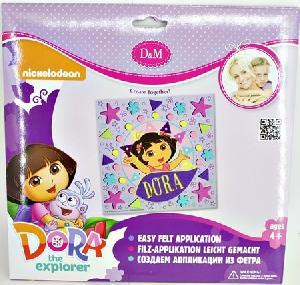 """Набор для создания аппликации из фетра """"Маленькая путешественница"""" Dora, арт.65134 фото"""