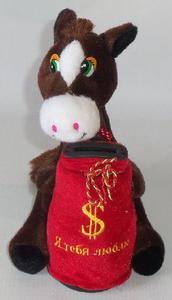 Лошадь м/н копилка арт.1253-12 (1/6 цена за шт.) (кор.150) фото