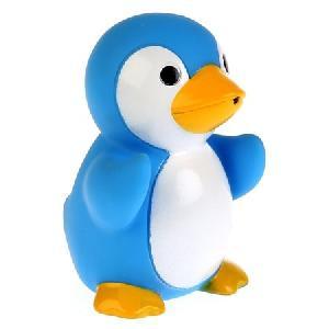 """Игрушки пластизоль для купания """"Играем вместе"""" Пингвин выс. 7см в сетке, в кор.2*50шт, арт.LXB495B фото"""