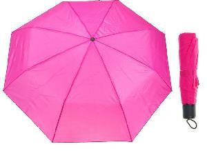 Зонт механический однотонный, R=46см, цвет малиновый арт.653098 фото