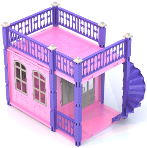"""Домик для кукол """"Замок Принцессы"""" (1 этаж) (розов), арт.590/2 фото"""
