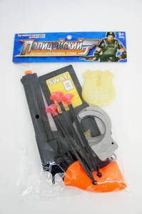 Набор полиции - Пистолет с присосками, удостоверением и аксесс. в пак.,арт.47308 фото