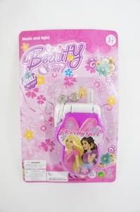 Телефон мобильный раскладушка Принцесса  (батар.,свет,музыка) на карт, арт.40833 фото