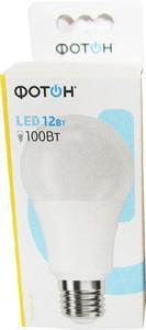 Лампа светодиодная ФОТОН LED A60 12W E27 4000K (кор.10шт.)арт.22827 фото