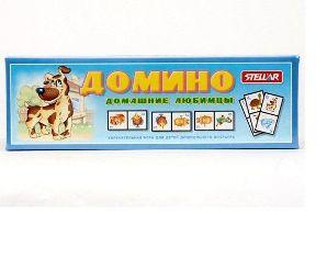 """Домино большое 15 """"Домашние любимцы"""" арт.00015 фото"""