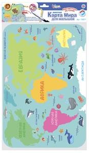 """Игра магнитно-маркерная """"Карта мира для малышей. Животные"""", арт.03871 фото"""