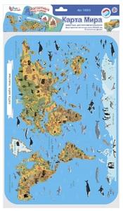 """Игра магнитная """"Карта мира. Животные. Достопримечательности"""", арт.03865 фото"""