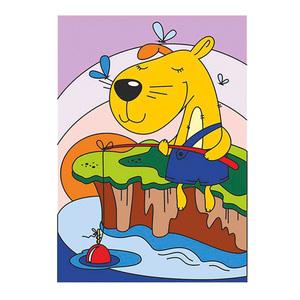"""Картина по номерам для малышей """"Смелый рыбак"""", арт.Ркн-009 фото"""
