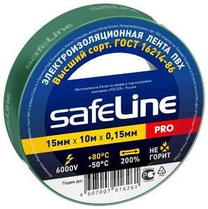 Изолента Safeline Auto 15/10 зелёный (обтяжка 10шт.)арт.12119 фото