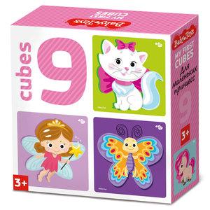 "Кубики ""Для маленьких принцесс"" (без обклейки) 9 шт Baby Toys, арт.03534 фото"