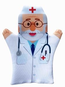 """Домашний кукольный театр. Кукла-перчатка """"Доктор"""", арт.04056 фото"""