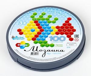 Мозаика шестигранная 100 эл (круглая пласт.коробка), арт.02074 фото