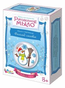 """Набор для изготовления мыла. Рукодельное мыло с картинкой """"Весёлый снеговик"""" , арт.02630 фото"""