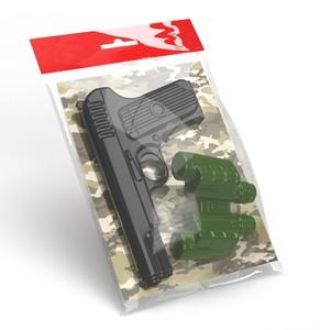 Оружие пластиковое Пистолет. Бинокль, арт.02334 фото
