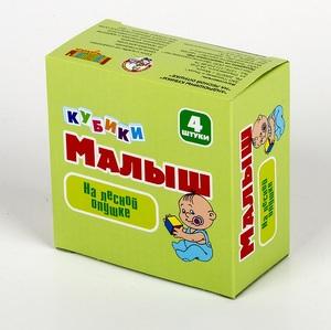 "Кубики Малыш ""На лесной опушке"" (без обклейки) 4 шт, арт.00641 фото"